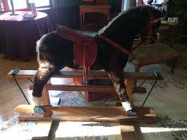 """4-½' long """"Pegasus"""" Rocking Horse by Bijou Toys"""