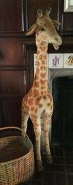 """4'-10"""" tall Steiff Giraffe"""