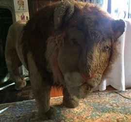 """4'-3"""" long Plush Lion"""