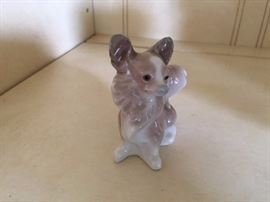 This is a little Papillon Lladro dog.