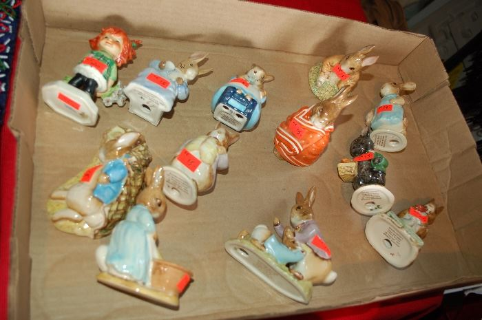 Bestwick Beatrix Potter figures, Goebel Charlot Byj Redhead