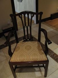 One of eight straight leg Chippendale chairs