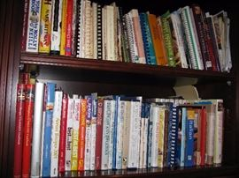 Some sample of many books including lots of great cook books