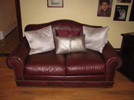Matching leather loveseat