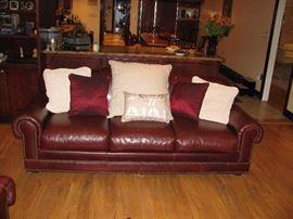 Matching leather sofa
