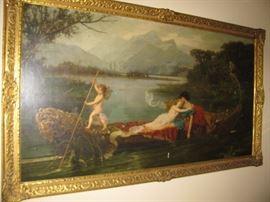 Antique painting by listed artist