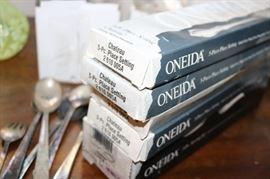 Oneida Chateau Flatware  Service for 9 plus serving pieces