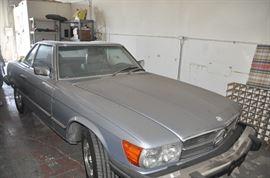 1983 Mercedes 380Sl Grey on grey