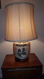Sake Barrel Lamp