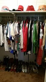 One of four closets of ladies clothing