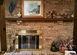 Nice fireplace decor