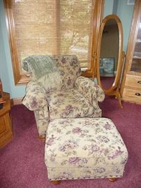 Chair, Ottoman & Cheval Mirror