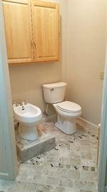 Master Bathroom Bidet and Toilet