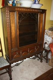 Antique china hutch.  Note the iron on the legs
