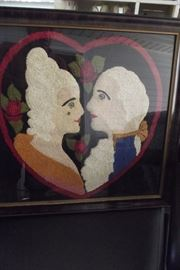 Museum quality needlework picture from France