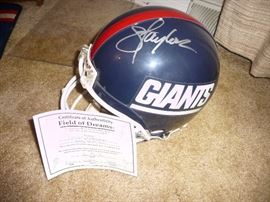 Taylor signed helmet for the New York Giants