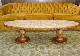 Vintage Hollywood Regency Coffee Table