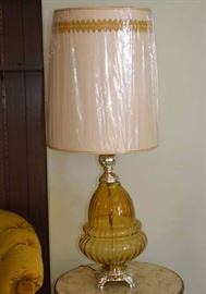 Vintage Glass Table Lamps