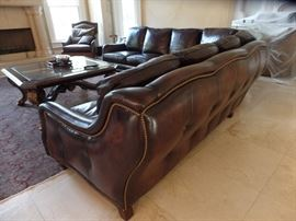Marge Carson Sectional Leather Sofa Retail$25,000      Estate sale price $16,500