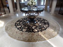 La Barge Foyer Table.  Retail $14,000                     Estate sale Price $7,500