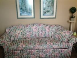 Comfortable floral couch