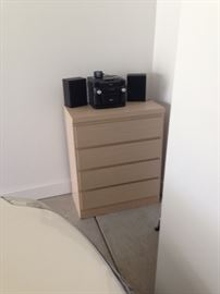 Dresser with RCA 3 disc cd player