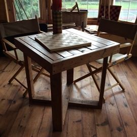 HOME MADE TABLE MADE BY BILL RITCHIE FOR THE PLAY ROOM