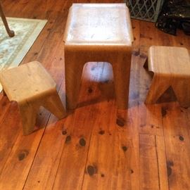 RARE Eames era children's table and chairs. CHECK OUT ALL THE PICTURES! PLEASE E- MAIL US WITH INTEREST. WE ARE TAKING THE HIGHEST OFFER. OR CALL YOUR OFFER IN TO CYNDI 586-675-5739 We will keep you abreast of the highest bidder so you may up your bid!