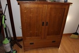 Signed Stickley TV armoire