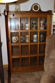 Signed Stickley display cabinet