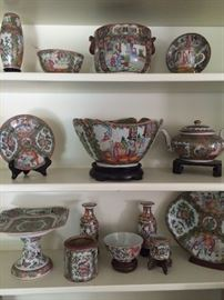 Wonderful variety of Famille Rose porcelain dishes