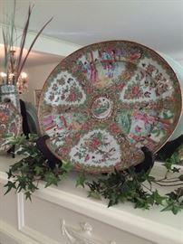 Large Famille Rose platter