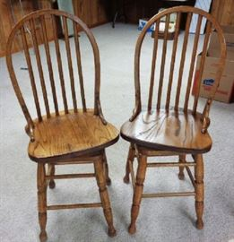 Vintage Oak Bentwood Chairs