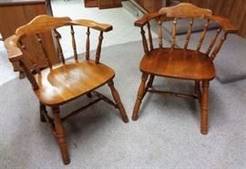 Vintage Wood Captain's Chairs
