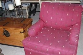 BASSETT OCCASIONAL CHAIRS - ONE OF TWO, DECORATIVE CHEST, DECOR