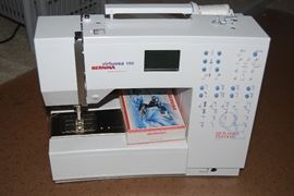 BERNINA VIRTUOSA 150 QUILTERS EDITION SEWING MACHINE.  MANY ATTACHMENTS