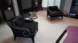 Matching armed chairs
