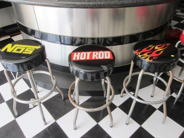 Gearhead themed stools