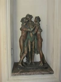 One of many sculptures