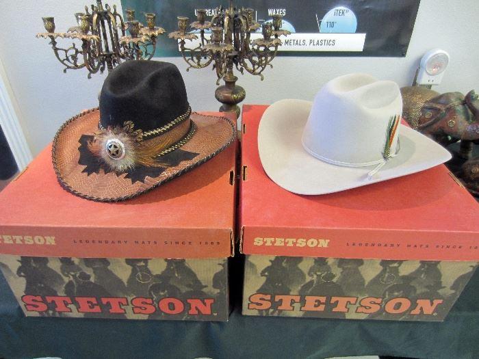 Beautiful, new Stetson hats, worn once!!