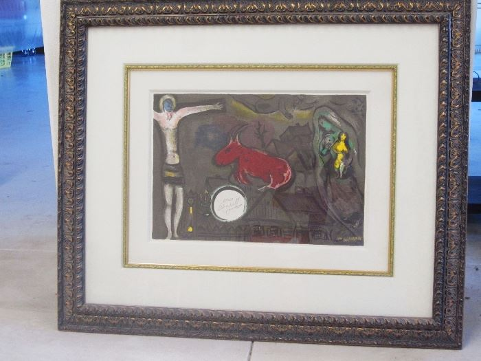One of several pieces of art work by Dali