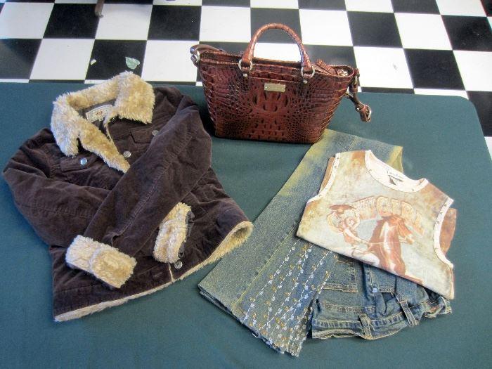 Clothing by Allen Schwartz, Ralph Lauren, Sue Wong, Banana Republic, Levi, etc.
