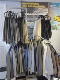 Lots of men's clothing also