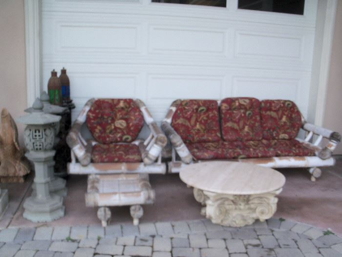outdoor decor and patio seating