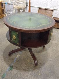 Antique library table with revolving top