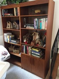 Teak bookcases!