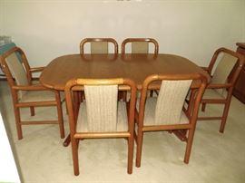 Teak Scandinavian dining room table set