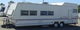 Travel Trailer Camper - Approx. 28' Long - No Title - Being Sold For Scrap