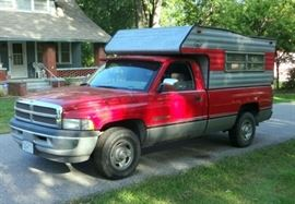 1994 Dodge RAM Pickup Truck With Slide In Camper, VIN 1B7KC26WXRS626504