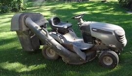 Craftsman LTS2000 Riding Lawn Tractor with Bagger Attachment, 19.5 HP Briggs and Stratton Motor